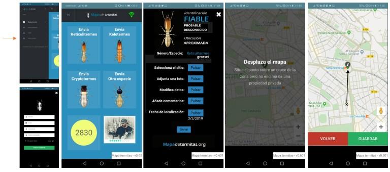 pwa de mapa de termitas