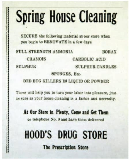 Fig. 6. Los esfuerzos para matar las chinches a menudo coincidieron con las actividades de limpieza de primavera. Las velas de azufre y otros productos fueron almacenados y vendidos por boticarios.