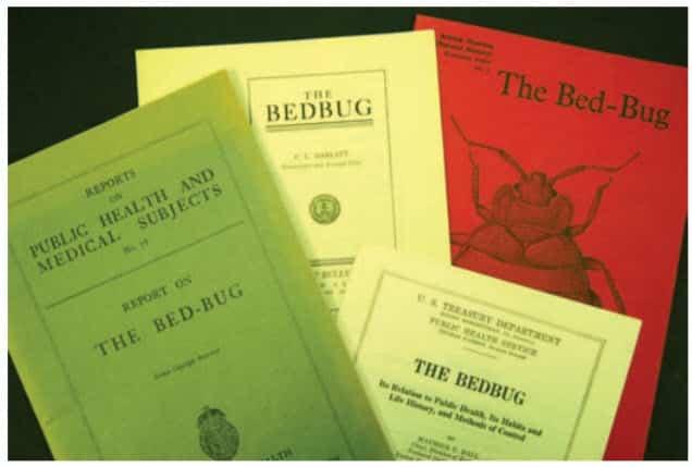 Fig. 7. Mucho de lo que se sabe sobre las chinches de cama hoy se publicó antes de 1950.