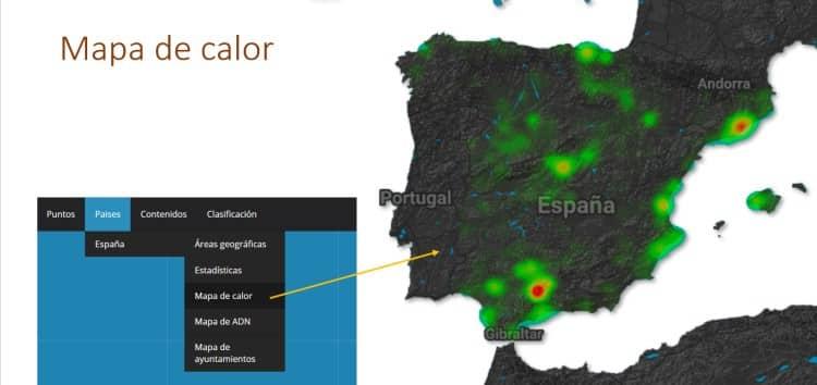 Imagen 10-Mapa de calor de la actividad de termitas en España