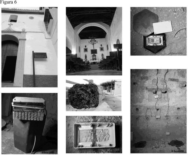 Fotografías que muestran detalles del tratamiento de termitas