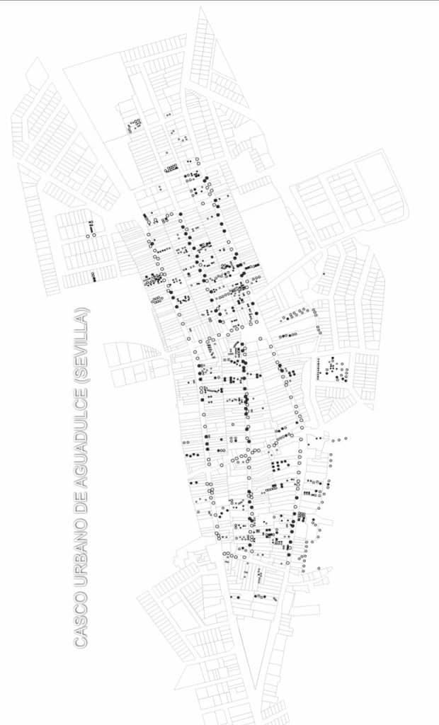 Casco urbano de Aguadulce (Sevilla) durante el tratamiento de termitas con Sentri Tech