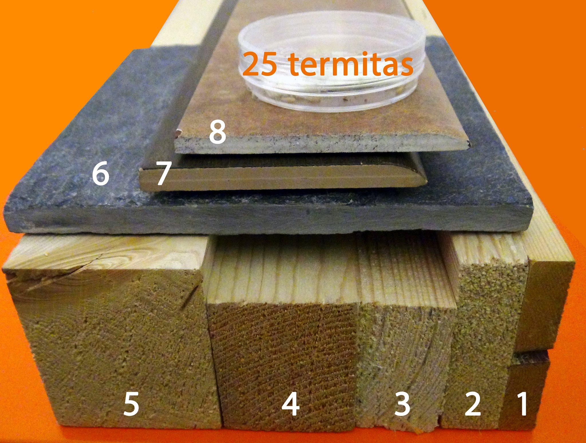 Materiales utilizados en los ensayos con el Termatrac
